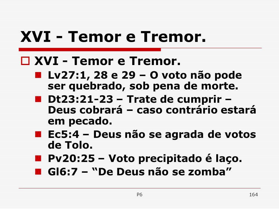 XVI - Temor e Tremor. XVI - Temor e Tremor.