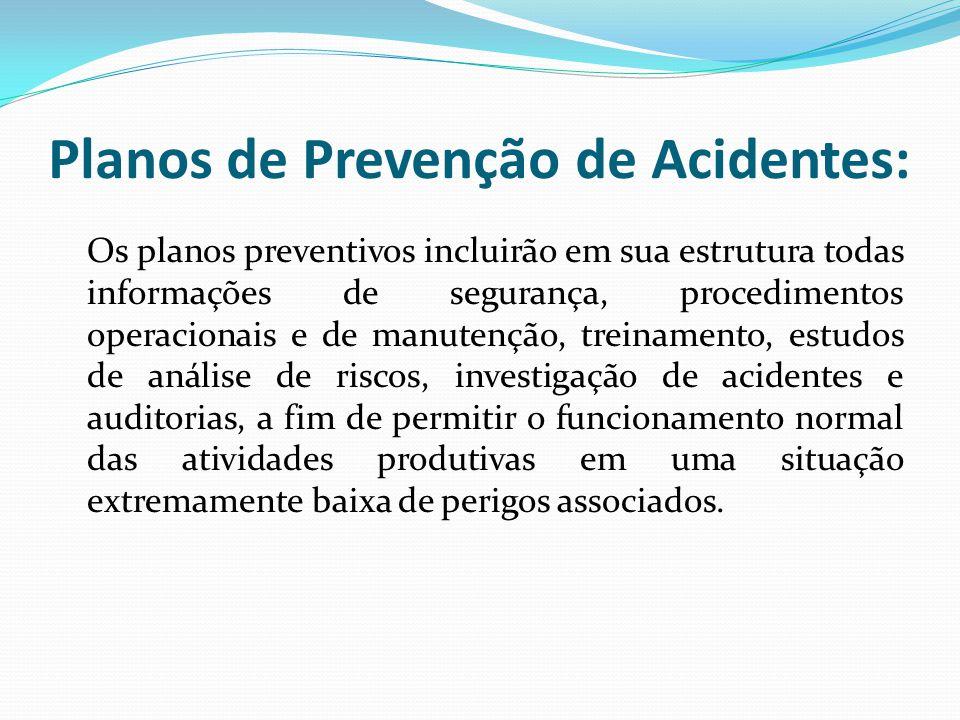 Planos de Prevenção de Acidentes: