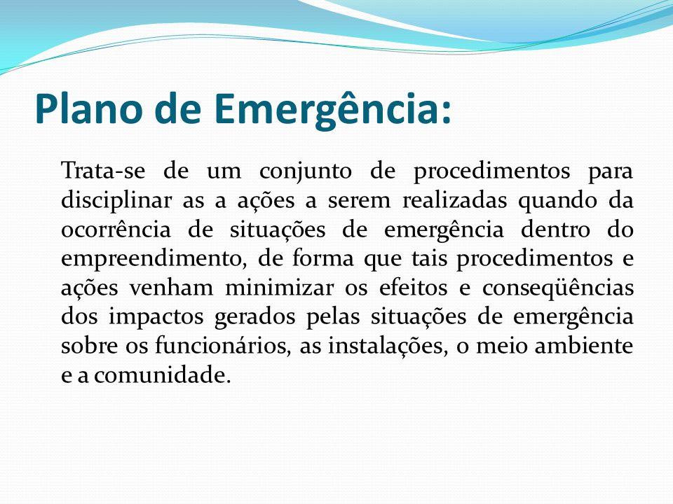 Plano de Emergência: