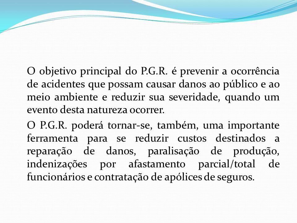 O objetivo principal do P. G. R