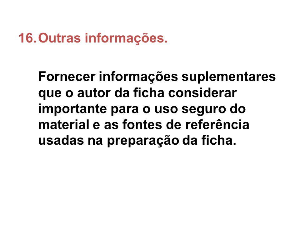 Outras informações.