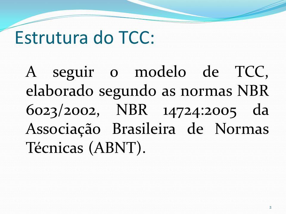 Estrutura do TCC: