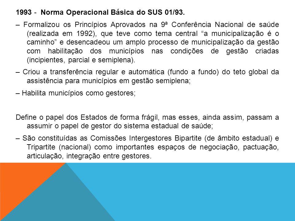 1993 - Norma Operacional Básica do SUS 01/93