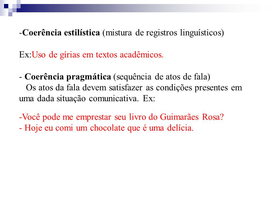 Coerência estilística (mistura de registros linguísticos)