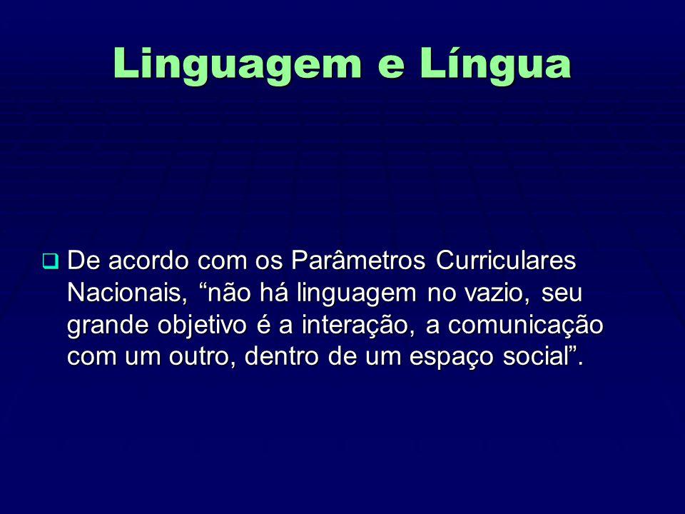 Linguagem e Língua