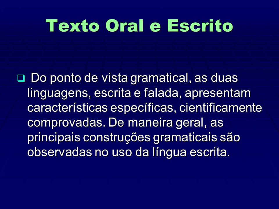 Texto Oral e Escrito
