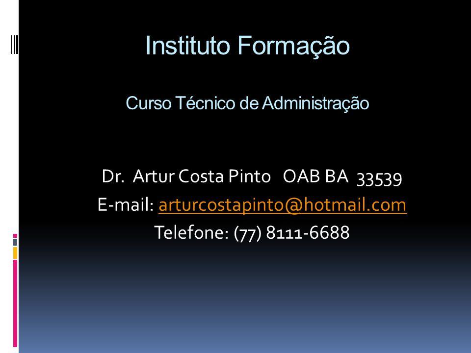 Instituto Formação Curso Técnico de Administração