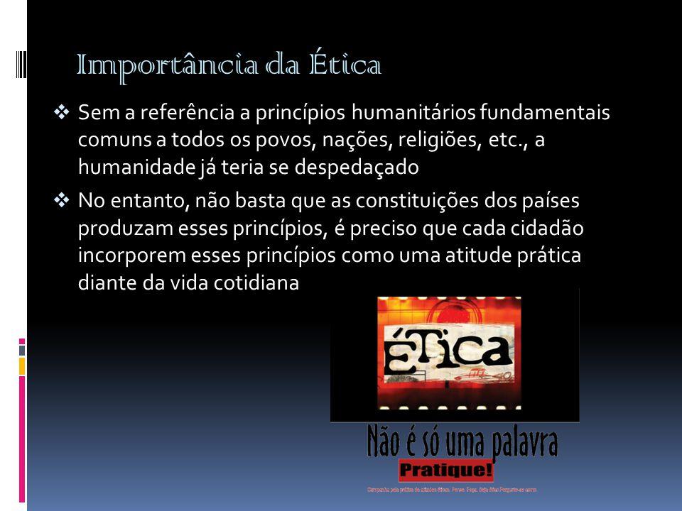 Importância da Ética