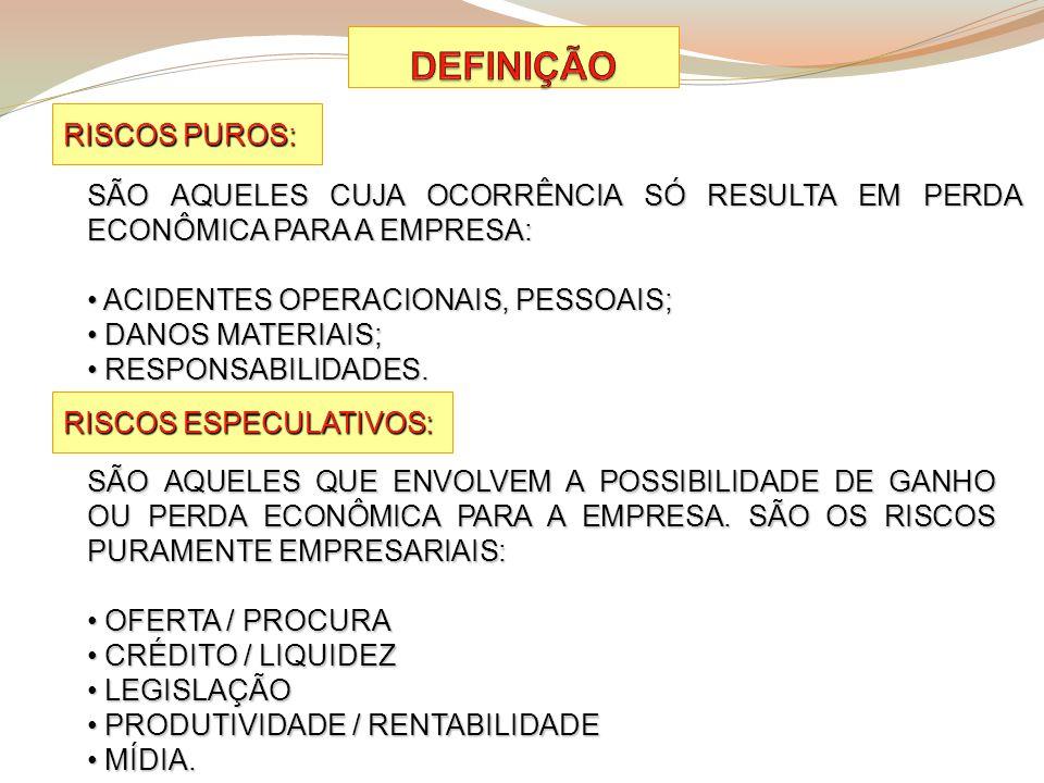 DEFINIÇÃO RISCOS PUROS: