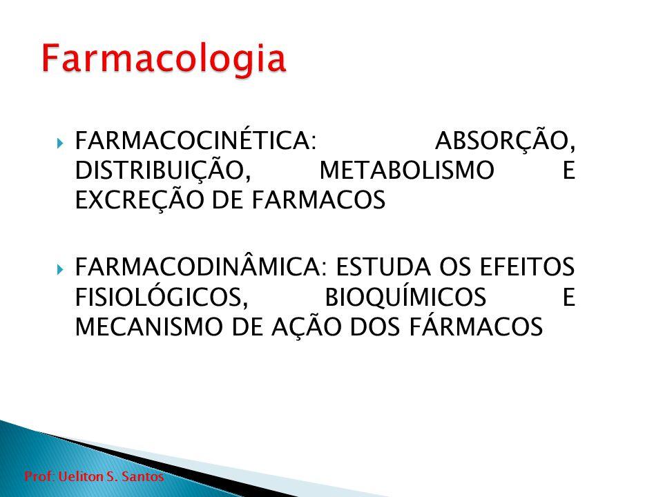 Farmacologia FARMACOCINÉTICA: ABSORÇÃO, DISTRIBUIÇÃO, METABOLISMO E EXCREÇÃO DE FARMACOS.