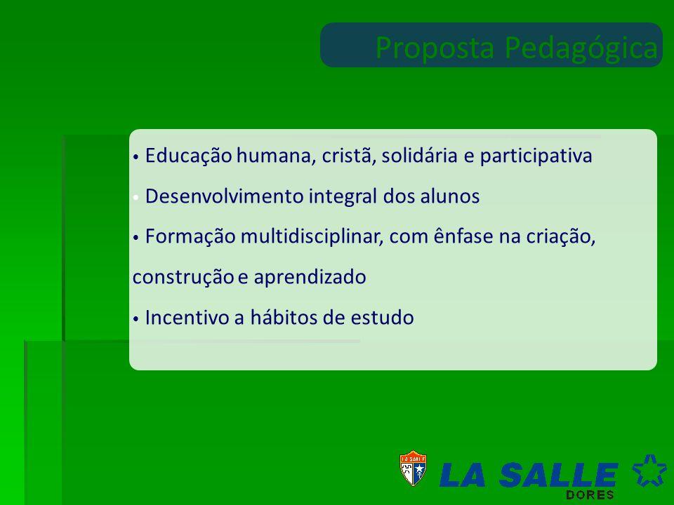 Proposta Pedagógica Educação humana, cristã, solidária e participativa