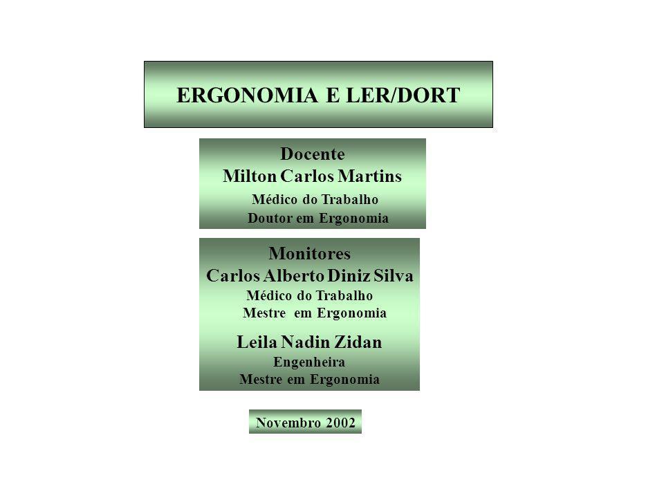 ERGONOMIA E LER/DORT Docente