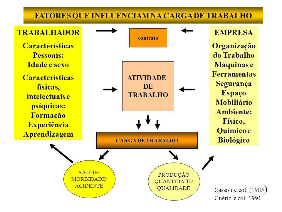 FATORES QUE INFLUENCIAM NA CARGA DE TRABALHO