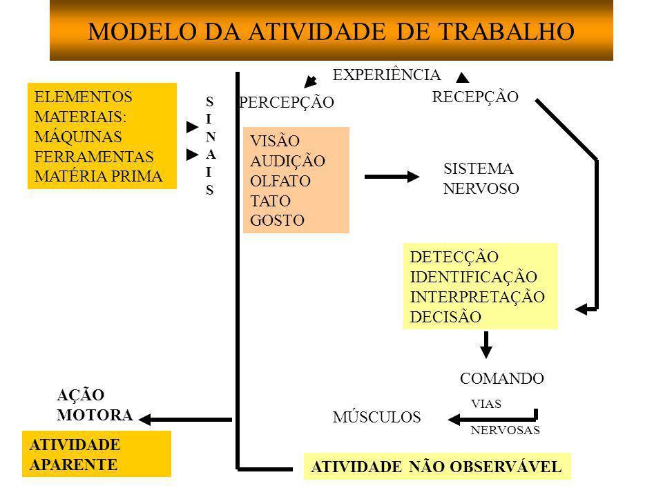 MODELO DA ATIVIDADE DE TRABALHO