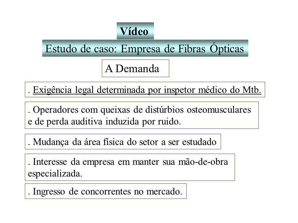 Estudo de caso: Empresa de Fibras Ópticas