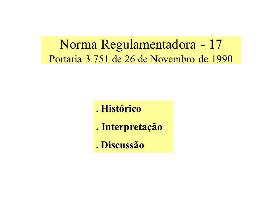 Norma Regulamentadora - 17 Portaria 3.751 de 26 de Novembro de 1990