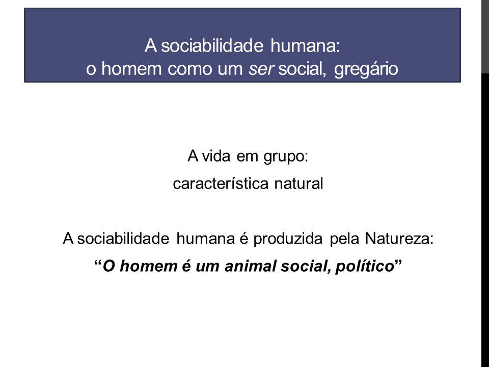 A sociabilidade humana: o homem como um ser social, gregário