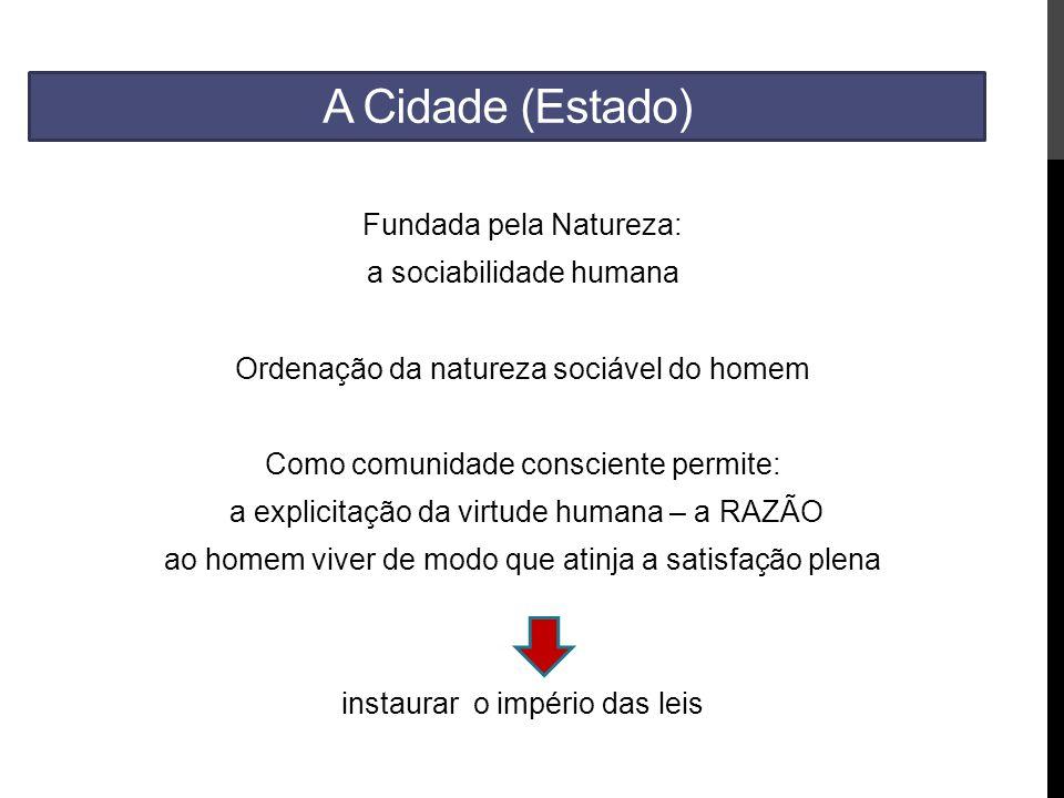 A Cidade (Estado) Fundada pela Natureza: a sociabilidade humana