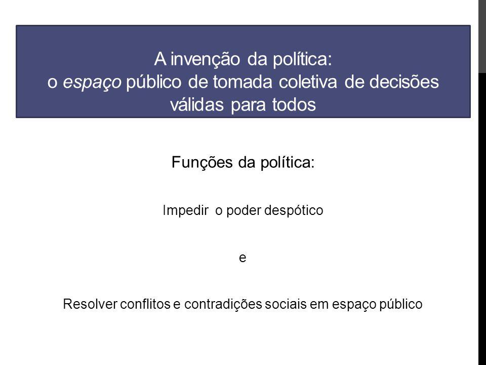 A invenção da política: o espaço público de tomada coletiva de decisões válidas para todos