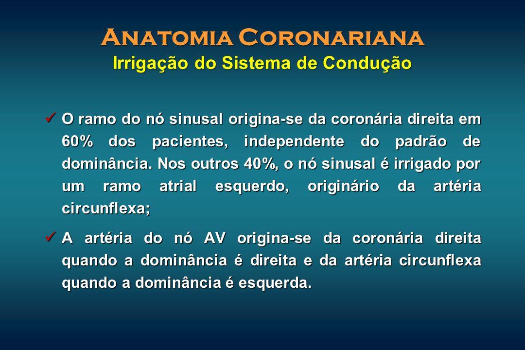 Anatomia Coronariana Irrigação do Sistema de Condução