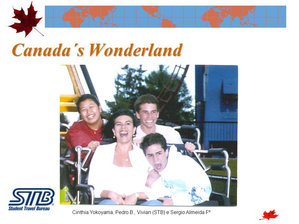 Canada´s Wonderland Cinthia Yokoyama, Pedro B., Vivian (STB) e Sergio Almeida Fº