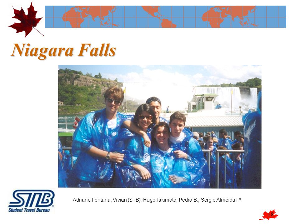 Niagara Falls Adriano Fontana, Vivian (STB), Hugo Takimoto, Pedro B., Sergio Almeida Fº