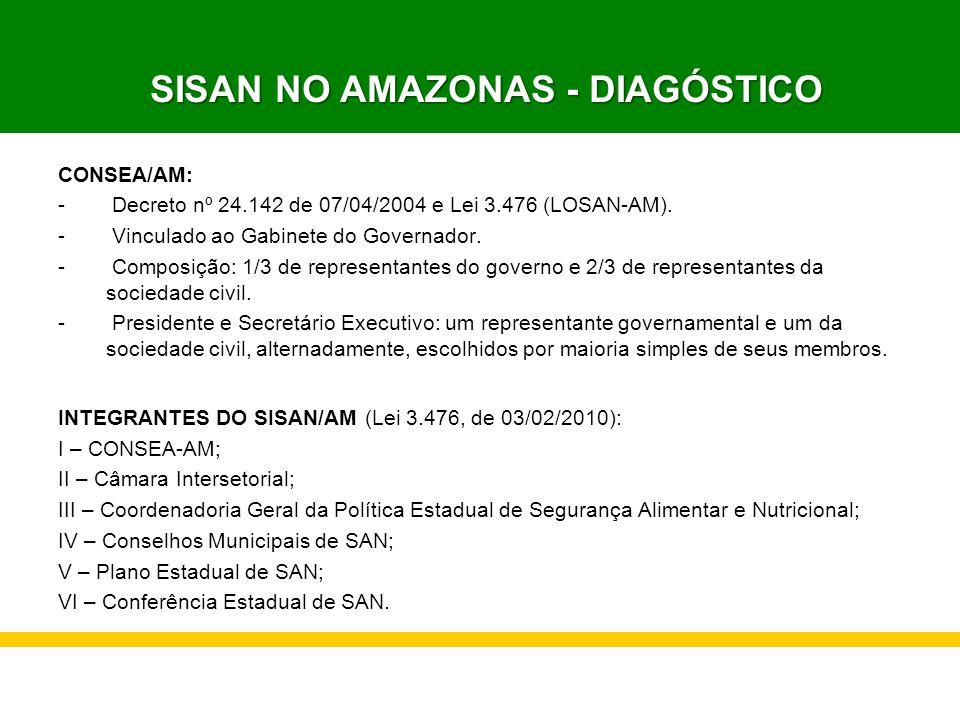 SISAN NO AMAZONAS - DIAGÓSTICO