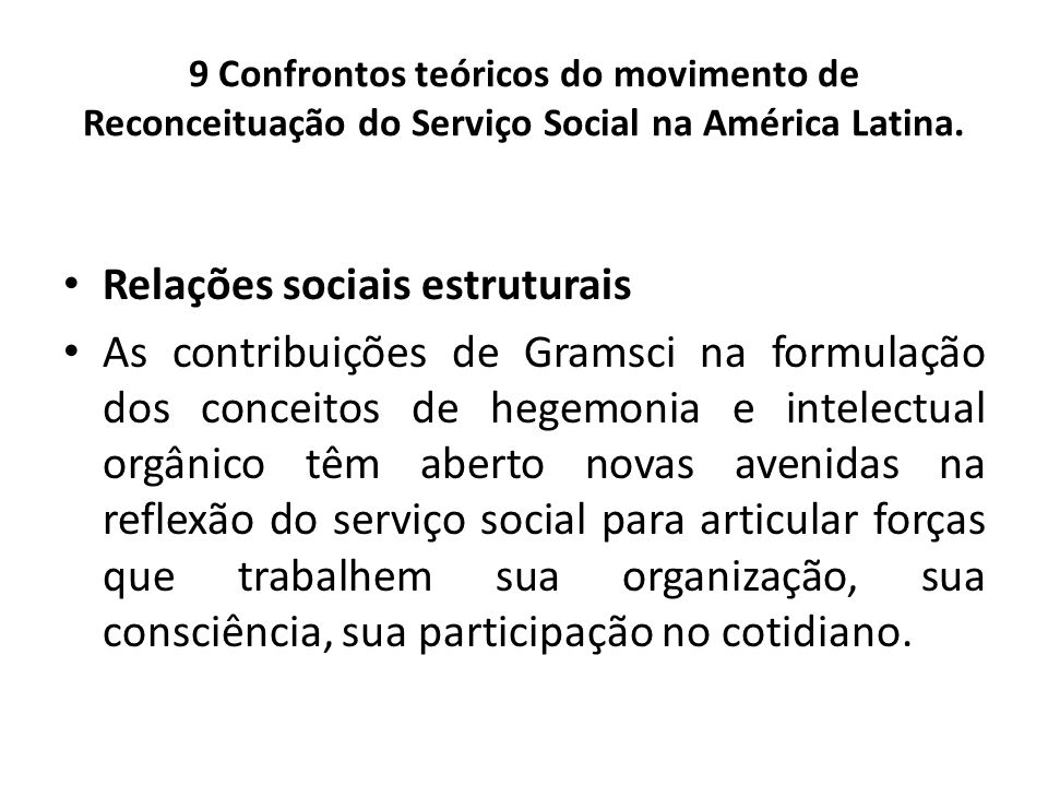 Relações sociais estruturais