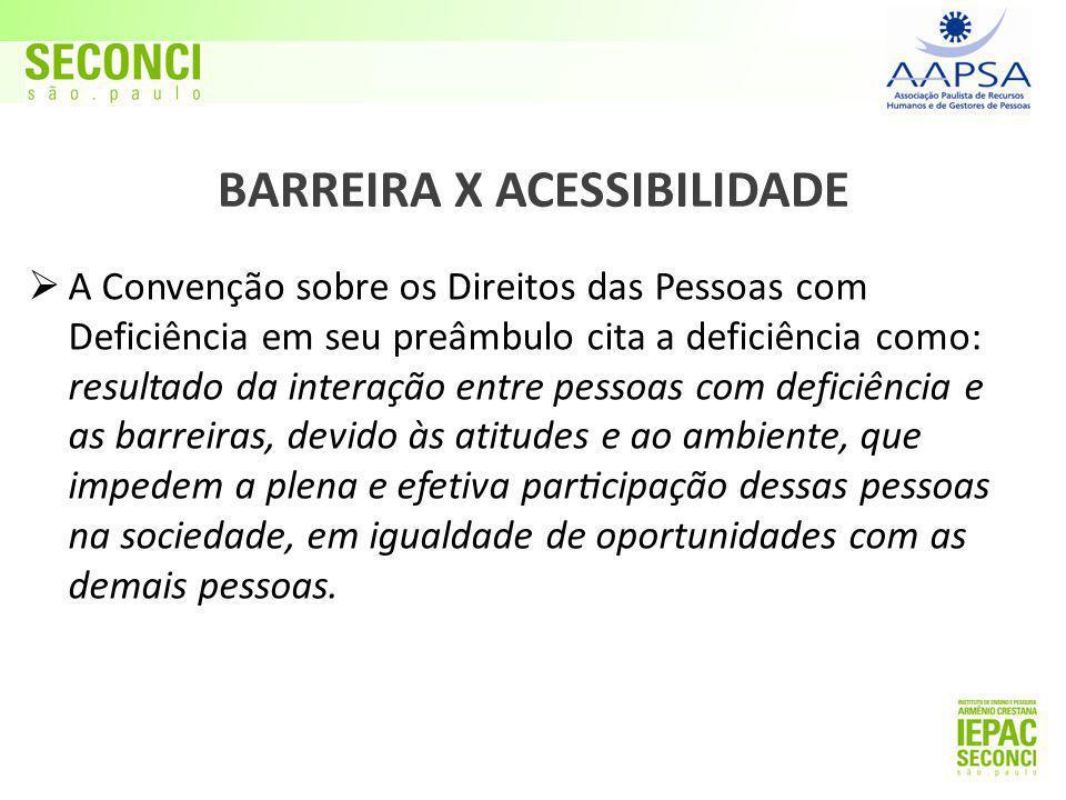 BARREIRA X ACESSIBILIDADE