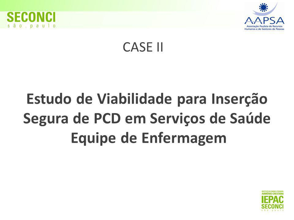 Estudo de Viabilidade para Inserção Segura de PCD em Serviços de Saúde