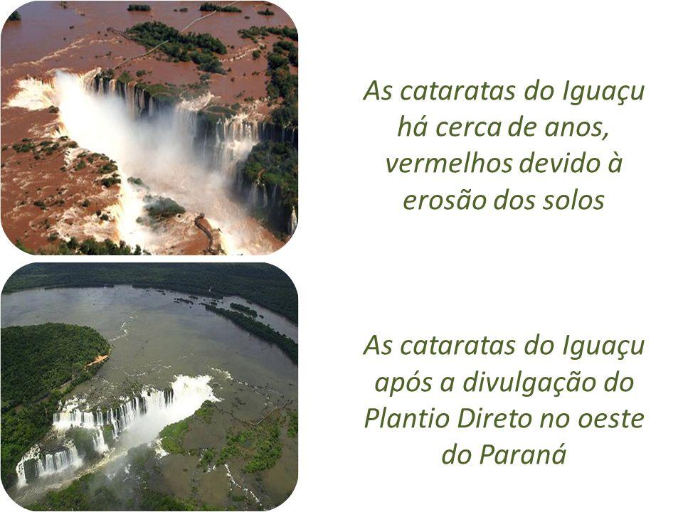 As cataratas do Iguaçu há cerca de anos, vermelhos devido à erosão dos solos