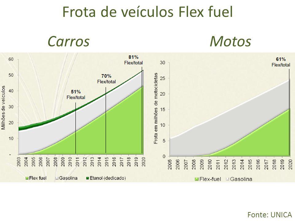 Frota de veículos Flex fuel