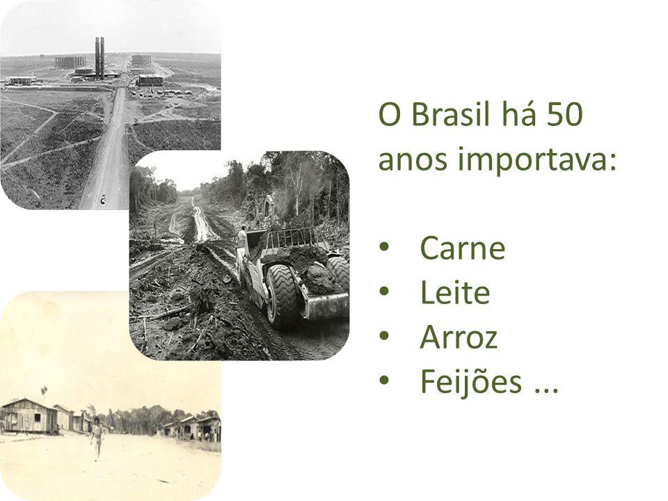 O Brasil há 50 anos importava: