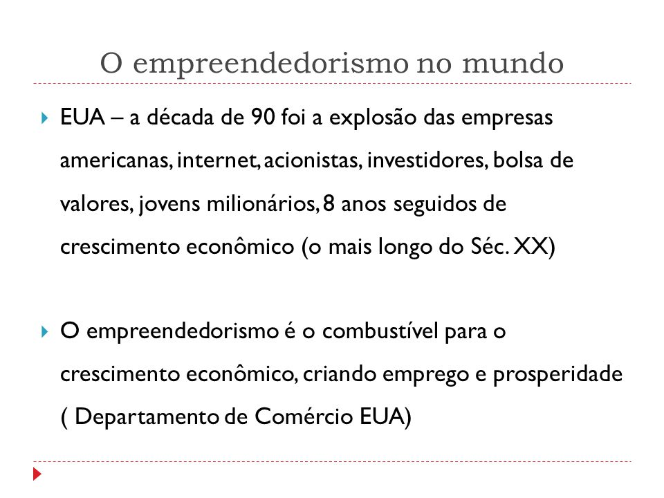 O empreendedorismo no mundo