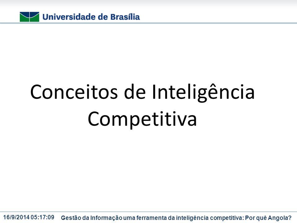 Conceitos de Inteligência Competitiva
