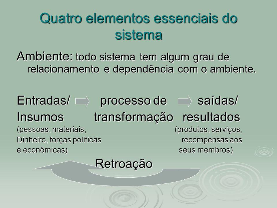 Quatro elementos essenciais do sistema