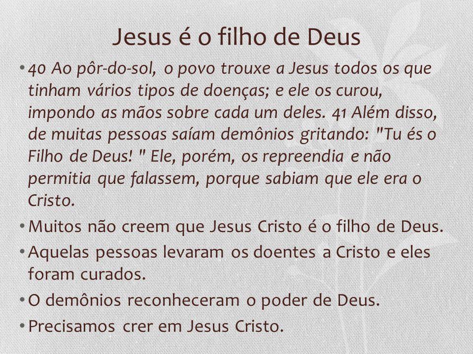 Jesus é o filho de Deus