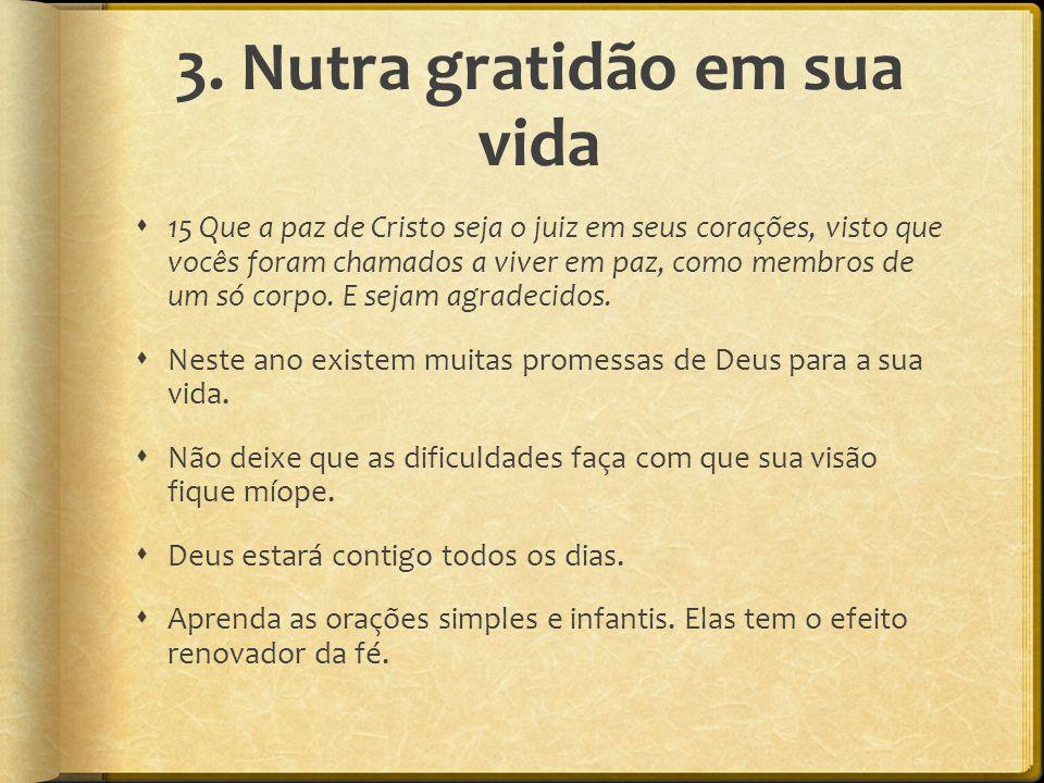 3. Nutra gratidão em sua vida