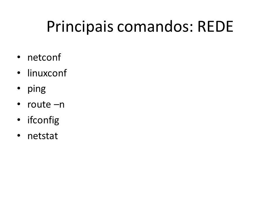 Principais comandos: REDE