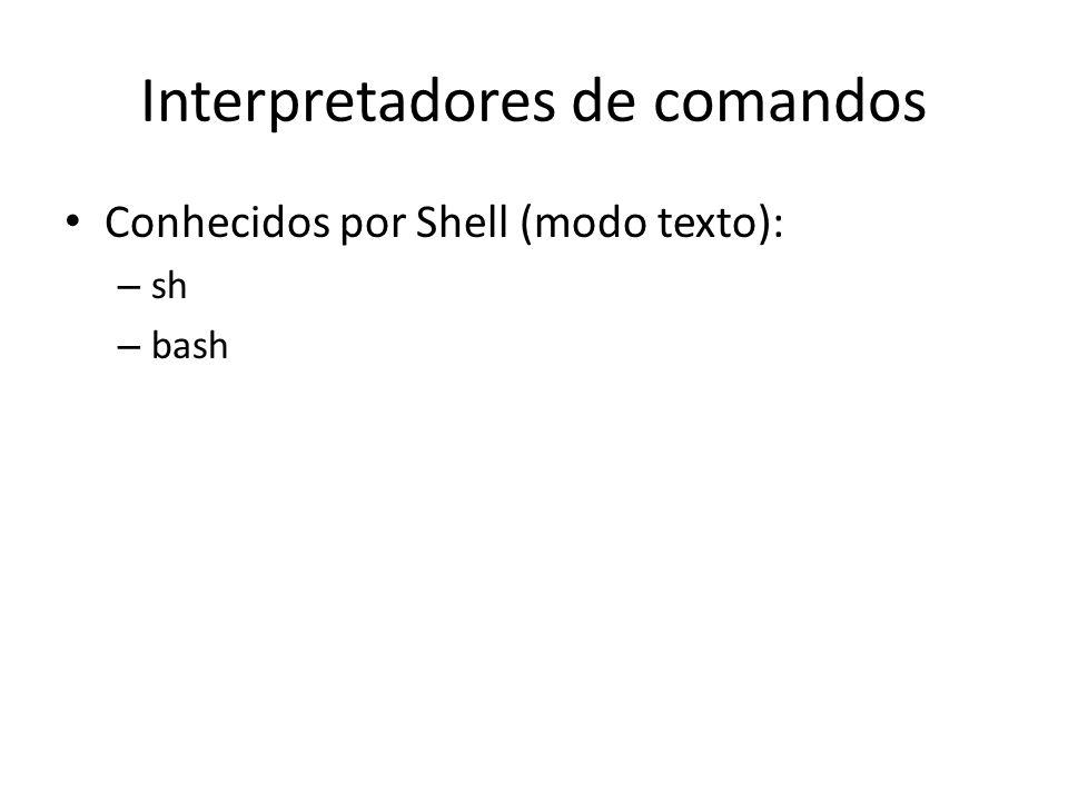 Interpretadores de comandos
