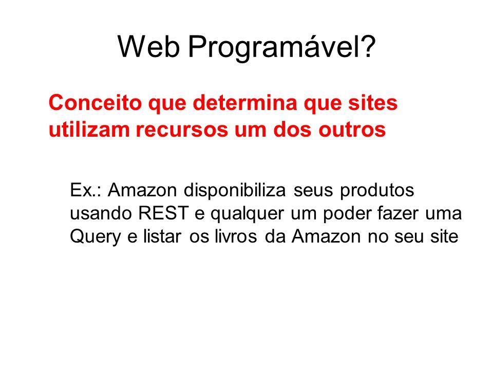 Web Programável Conceito que determina que sites utilizam recursos um dos outros.