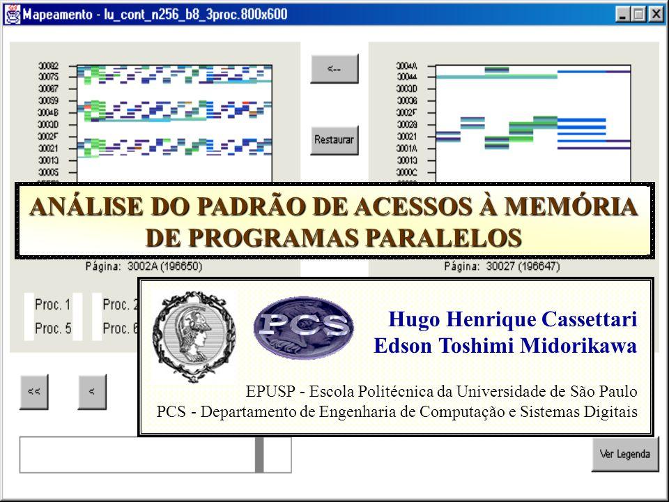 ANÁLISE DO PADRÃO DE ACESSOS À MEMÓRIA DE PROGRAMAS PARALELOS