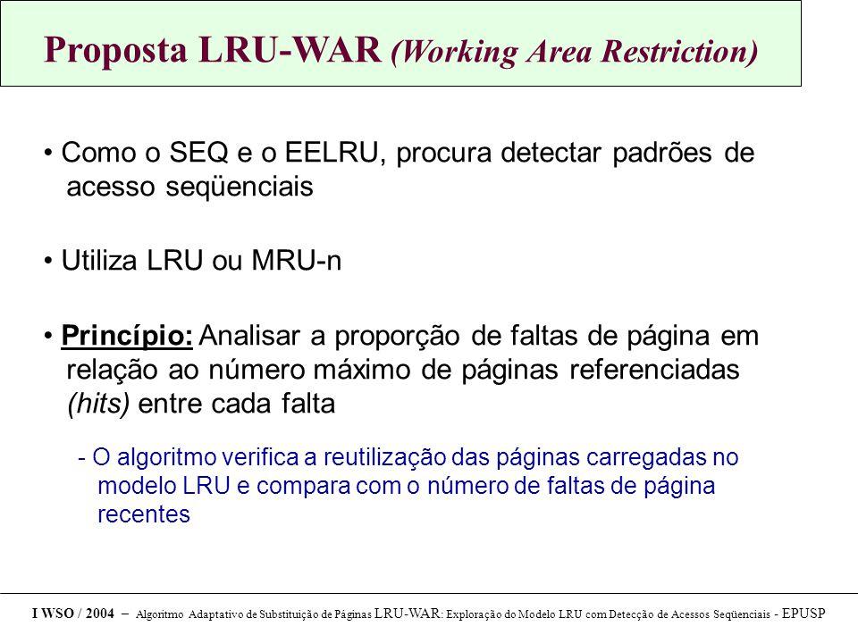 Proposta LRU-WAR (Working Area Restriction)