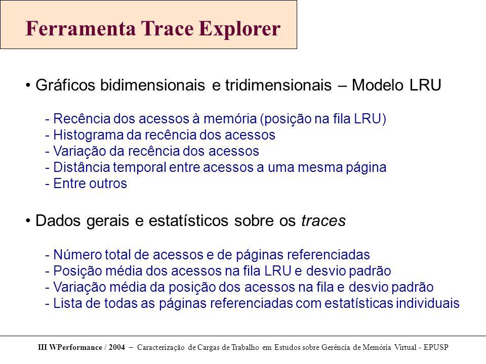 Ferramenta Trace Explorer
