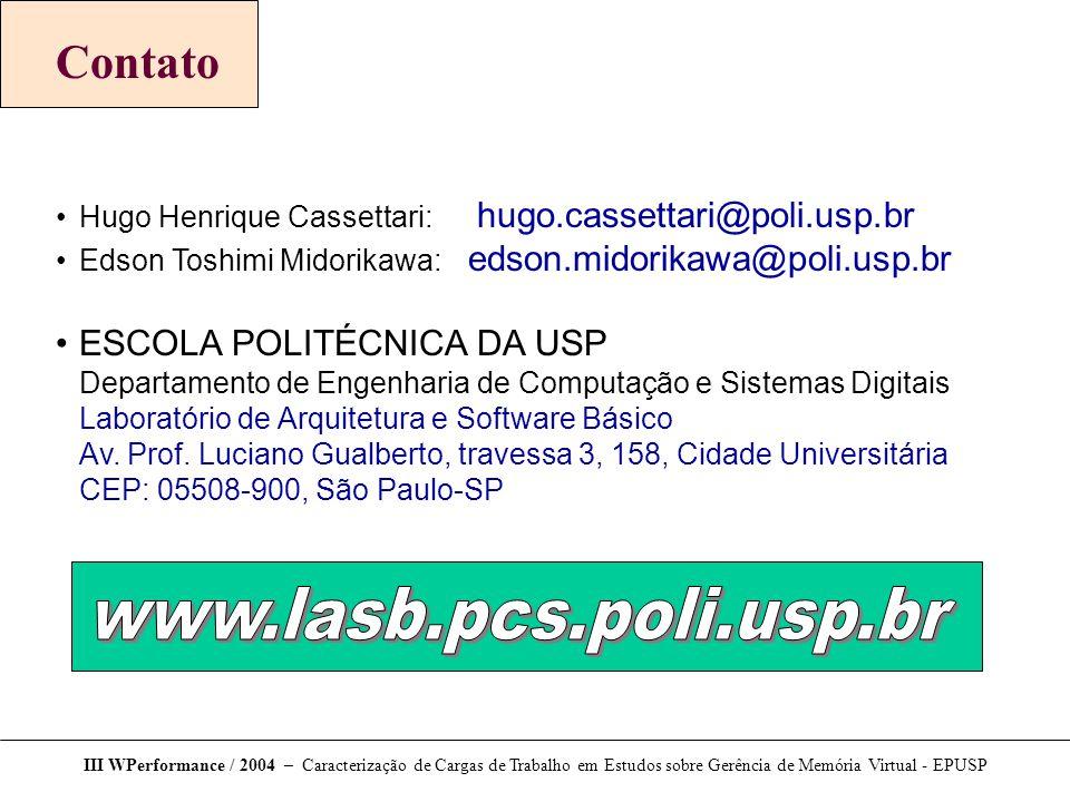 www.lasb.pcs.poli.usp.br Contato ESCOLA POLITÉCNICA DA USP