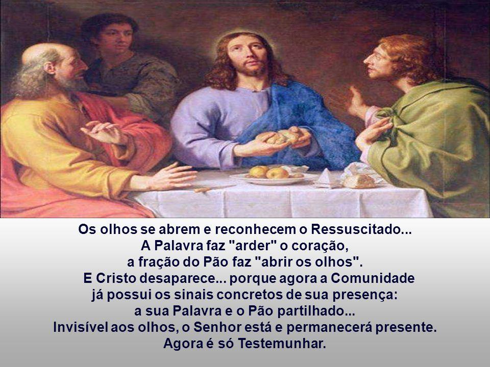 Os olhos se abrem e reconhecem o Ressuscitado...