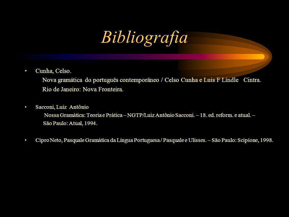 Bibliografia Cunha, Celso.