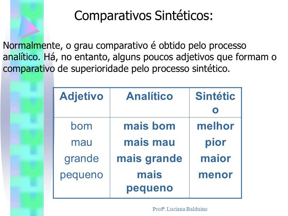 Comparativos Sintéticos:
