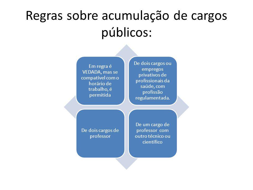 Regras sobre acumulação de cargos públicos: