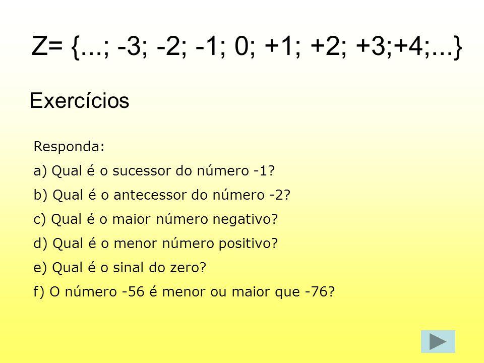 Z= {...; -3; -2; -1; 0; +1; +2; +3;+4;...}